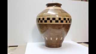 Beautiful Segmented Vase. Wood turned Design Work.