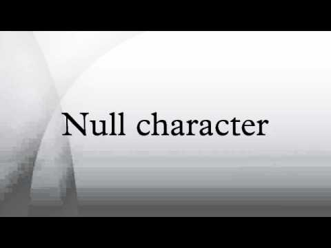 Null character