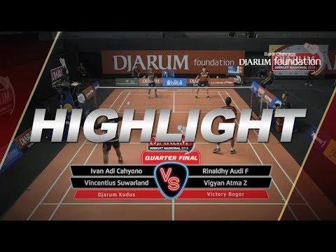 Ivan Adi C/Vincentius S (Djarum Kudus) VS Rinaldhy Audi F/Vigyan Atma Z (Victory Bogor)