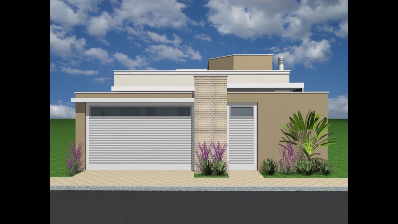 projeto casa terrea 8x25 120m2 moderna youtube