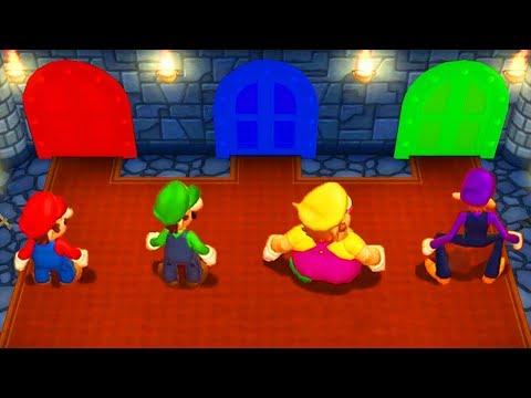 Mario Party 9 - Minigames - Mario vs Luigi vs Wario vs Waluigi (Master CPU)
