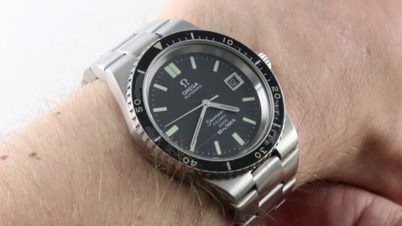 Omega Seamaster Cosmic 2000 Diver Vintage 166 137 Luxury Watch