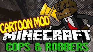 Minecraft CARTOON Modded Cops and Robbers | JeromeASF