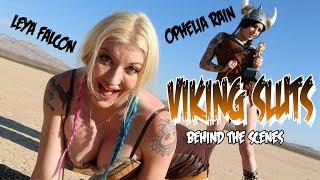 Viking Sluts!! Leya Falcon and Ophelia Rain behind the scenes
