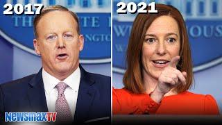Sean Spicer reacts to Biden's new Press Secretary hearing