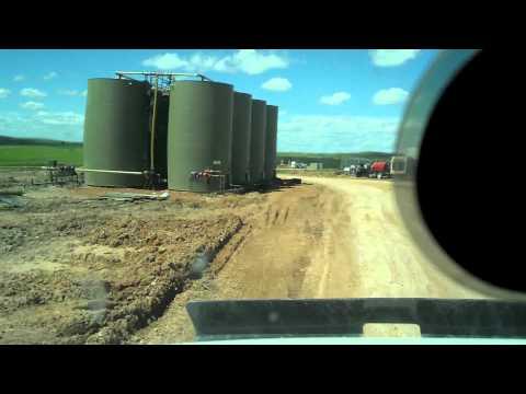 Oilfield trucking. North Dakota.