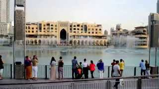 Dancing Fountains on pleasant Arabic Song
