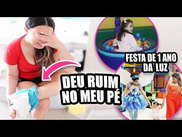 DEU RUIM NO MEU PÉ * Festinha de 1 ano | Kathy Castricini