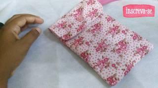 Bolsinha para celular em tecido #CosturaParaIniciante