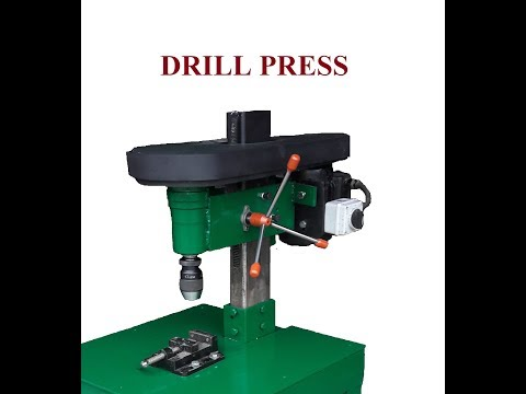 Budowa wiertarki stołowej Homemade steel Drill Press (diy)