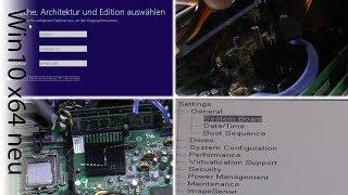 Gebrauchten PC SSD inbauen und Windows 10 x64 neu installieren Teil 1