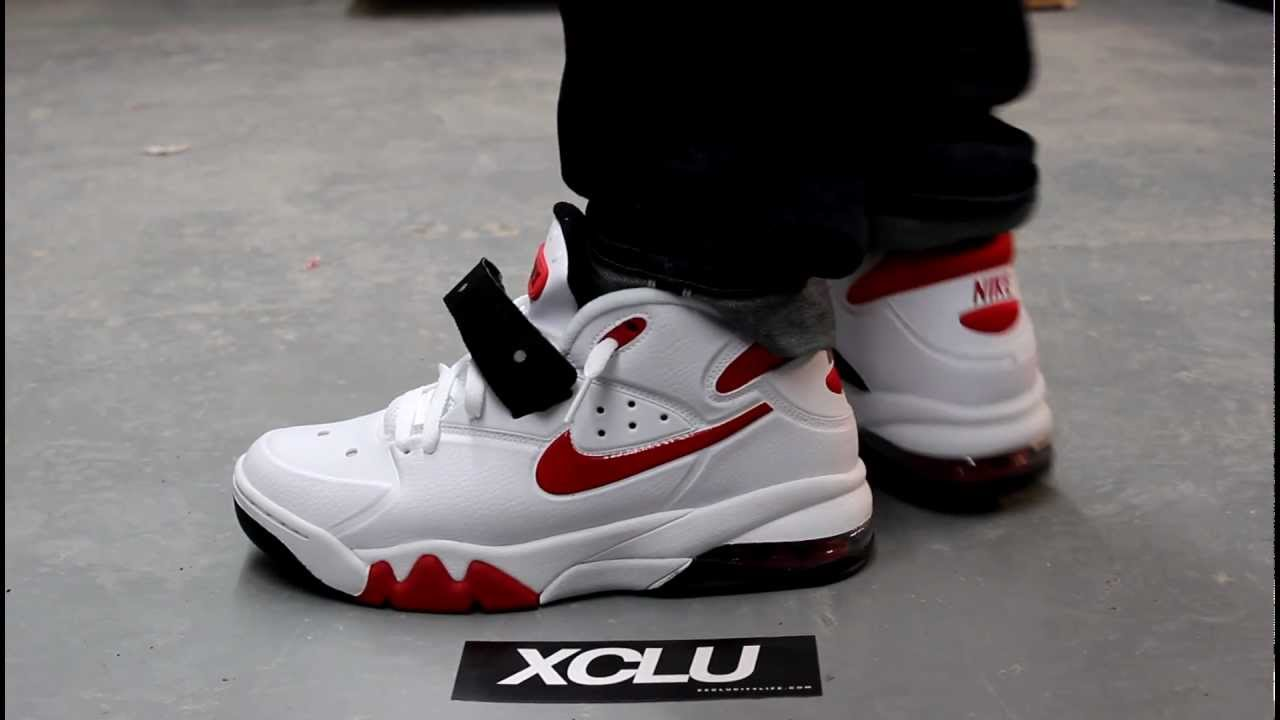 Nike Air Force De Rouge Max 2013 Blanc / Université 5