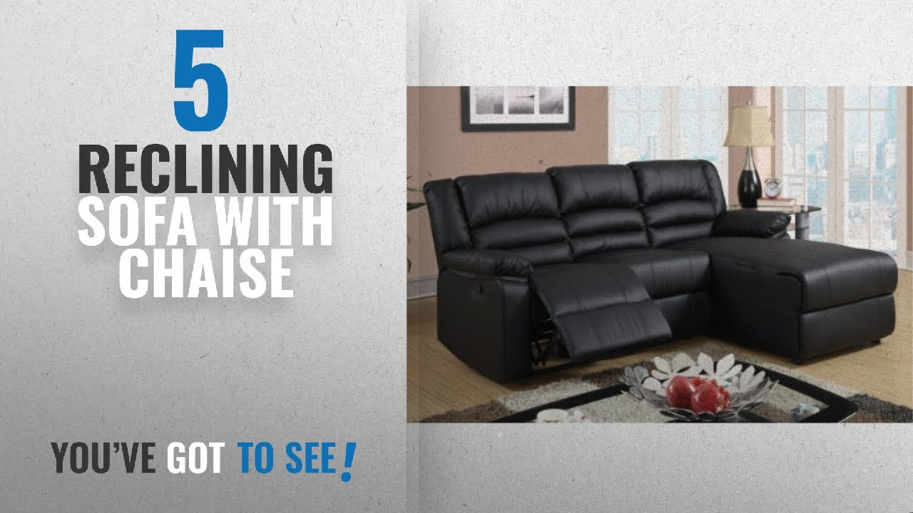 top 10 reclining sofa with chaise 2018 poundex bobkona bonded rh youtube com