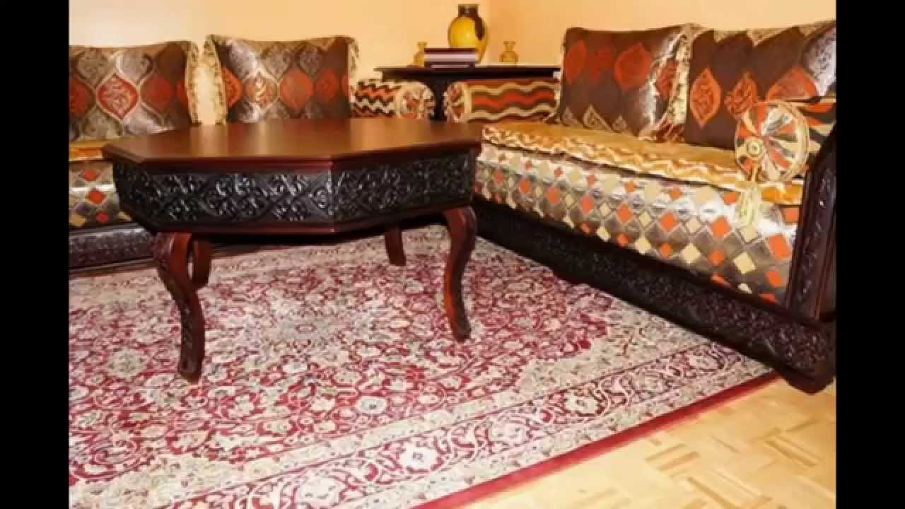 salon marocain 2016 orientale de luxe youtube. Black Bedroom Furniture Sets. Home Design Ideas