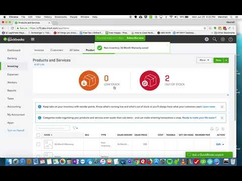 QuickBooks Online - Used Car Inventory