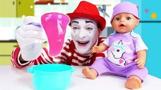 Детские мультики - Кашка для БЕБИ БОН! - Смешные видео с куклами Baby Born. Новые игры онлайн.