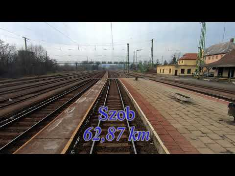 EC276 Metropolitan Budapest-Nyugati - Praha hl.n. (5x speeded) 2018