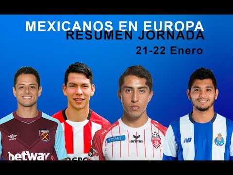 MEXICANOS EN EUROPA , Gol de CHICHARITO , HIRVING LOZANO sigue Lider