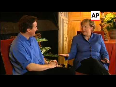 German Chancellor Merkel meets UK PM Cameron