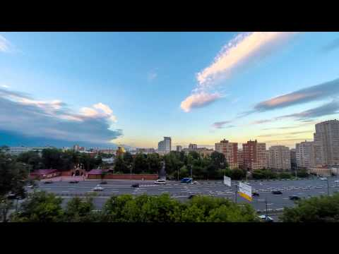 timelapse moscow clouds 60 fps