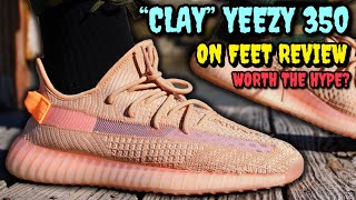 """CLAY"" ADIDAS YEEZY BOOST 350 V2 ON FEET REVIEW! WORTH THE HYPE?"