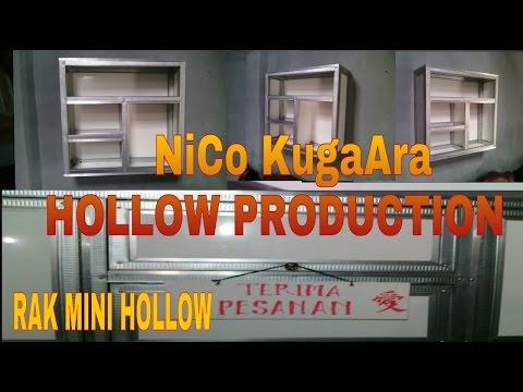 Cara Membuat Kitchen Set Rak Mini Kotak Obat Dari Hollow Part 1