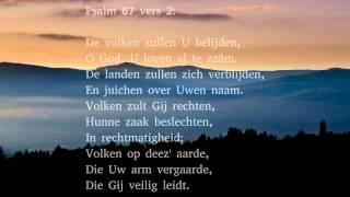 Psalm 67 vers 1, 2 en 3 - D