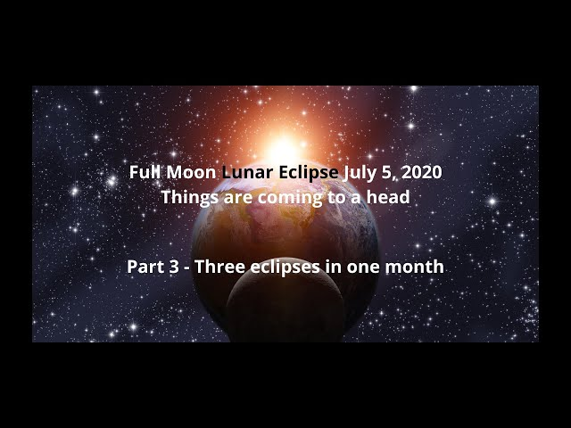 Part 3 - Three Eclipses in One Month