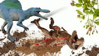Динозавры. ЗАХВАТ ТЕРРИТОРИИ ТИРАННОЗАВРОМ!!! Конец перемирию!!! Мультики на русском языке