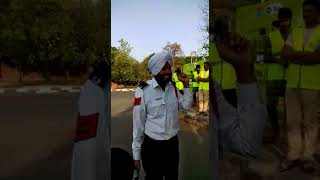 Watch: Chandigarh traffic cop Bhupinder Singh spreads awareness on road safety through his song