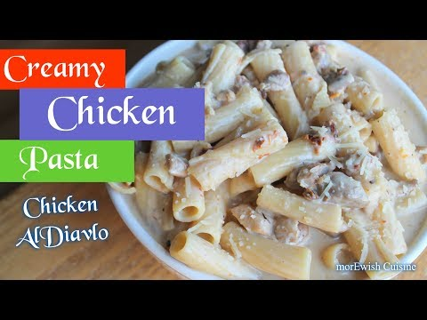 Creamy Chicken Pasta 🍝 with Sun-Dried Tomatoes 🍅 & Mozzarella Sauce |Chicken Al-Diavlo | morEwish