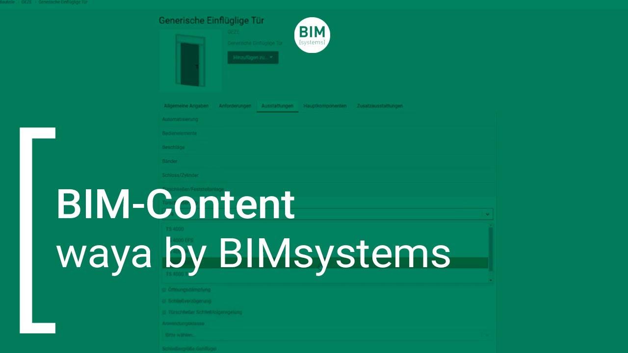 waya by BIMsystems |  BIM-Content