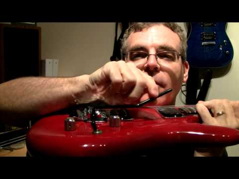Demo Of Replacing The Low TRS II With Gotoh Floyd Rose On An Ibanez JS100