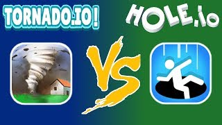 Hole.io vs. Tornado.io - Gameplay - Which Is The Better Game? - (iOS - Android)