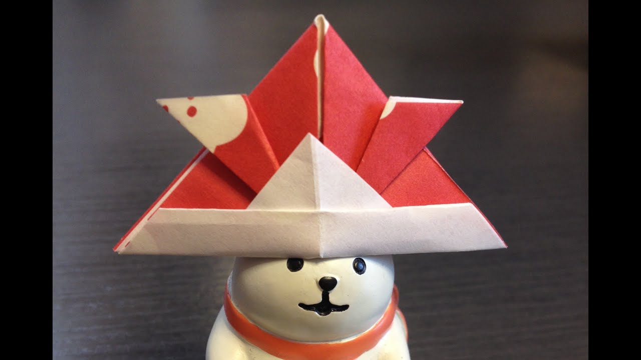 折り紙 かぶと How to Origami Shogun Hat - YouTube - photo#25