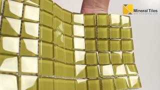 Glass Mosaic Tile Backsplash Sunrise 1x1 - 101CHIGLABR109