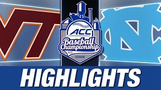 Virginia Tech vs North Carolina | 2015 ACC Baseball Championship Highlights