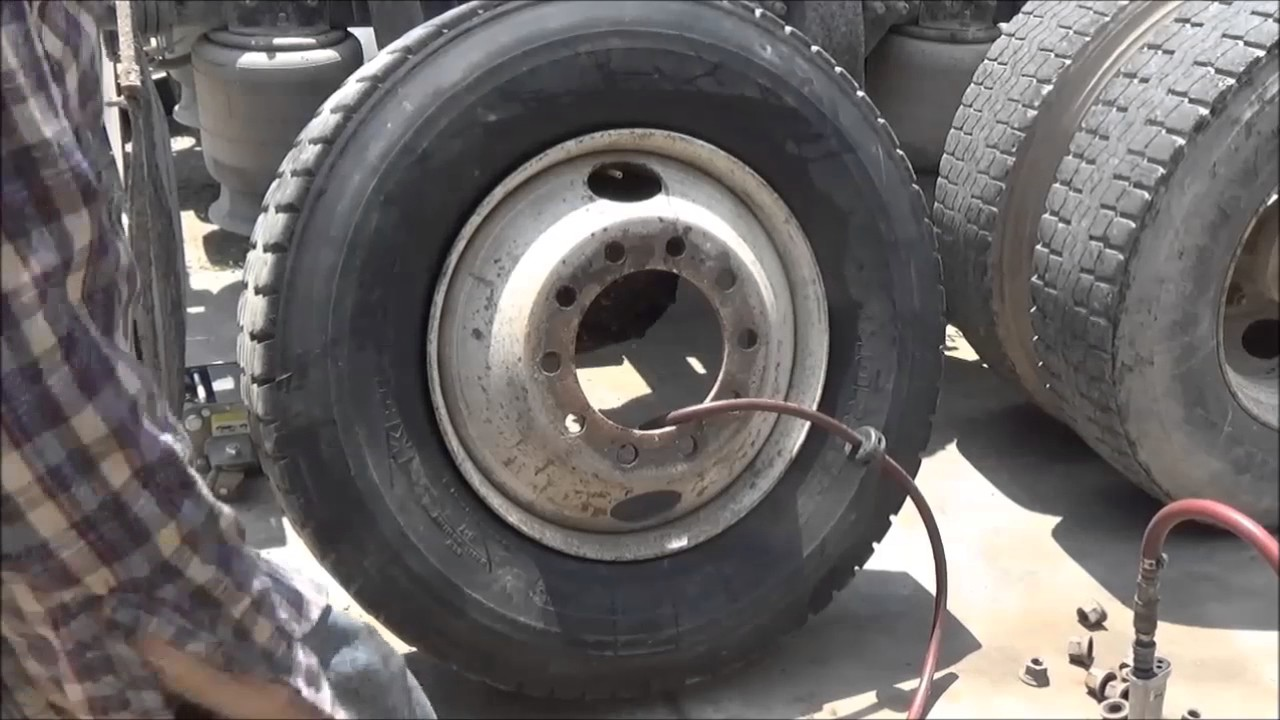 Big Truck Tires >> Changing Tires On My Big Truck At Home Part 2 June 3 2017