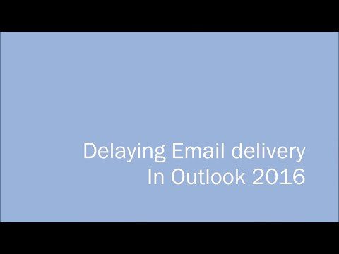 How to remove delay sending an email in outlook 2020