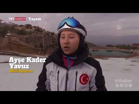 19 yaşındaki engelli milli kayakçı Ayşe Kader Yavuz