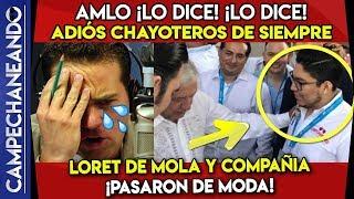 AMLO ¡LES DICE SUS VERDADES A LOS CHAYOTEROS! ¡YA PASARON DE MODA!