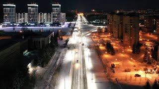 Обнинск Калужская область перед рассветом 10.02.2021 Obninsk Kaluga Region Before Dawn