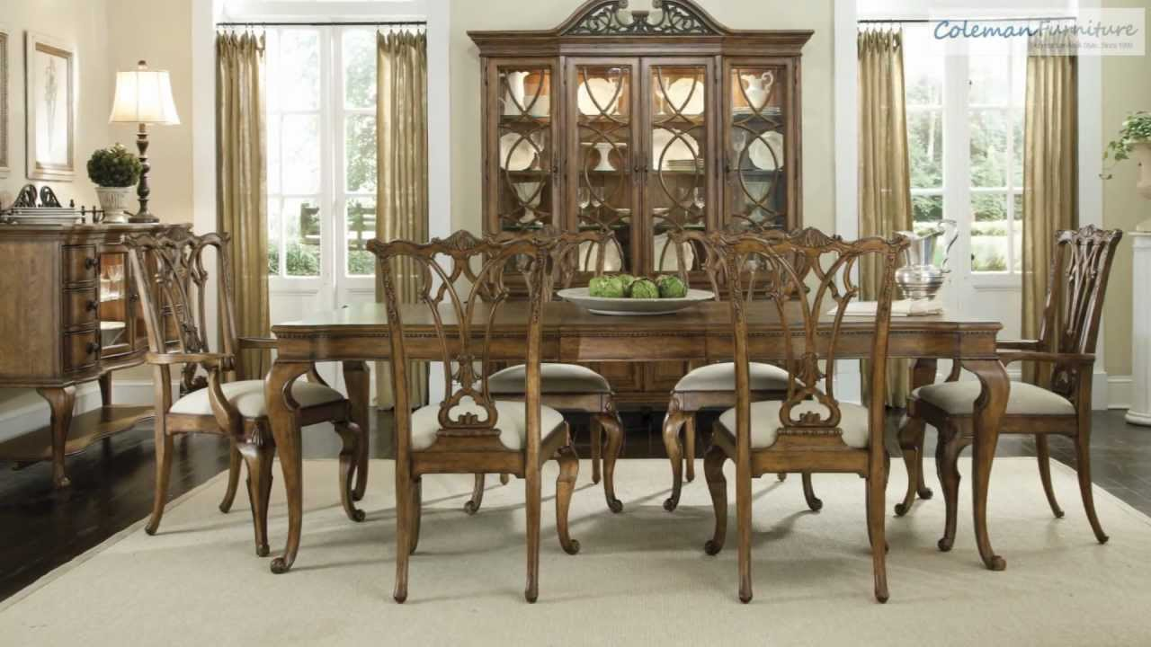 American memories leg dining room collection from art for Dining room tables you tube