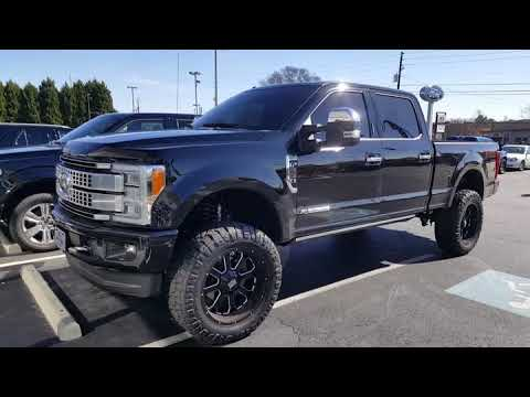 2017 Ford f250 platinum 37s on 22s - YouTube