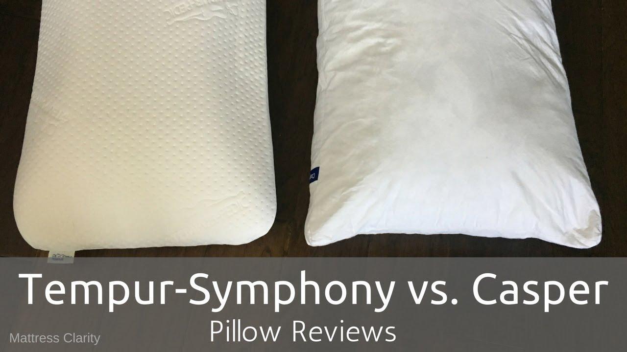 pillow reviews tempur symphony vs casper youtube