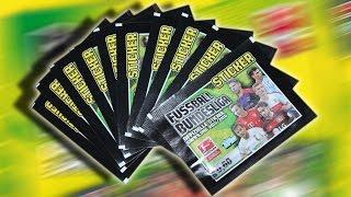 Bundesliga Sticker 2015/2016 10 Booster Päckchen Unboxing LIMITIERTE AUFLAGE