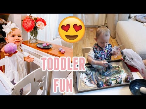 DECORATING EASTER EGGS| DAY IN THE LIFE OF A TODDLER MOM| Tres Chic Mama