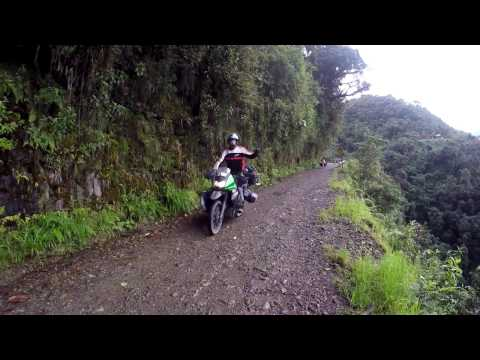 Riding the Death Road KLR 650 - Bolivia (Yungas Road)
