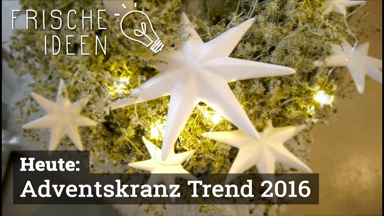 Youtube Weihnachtsdeko 2016 Adventskranz-trend 2016 - Youtube