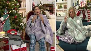 Berkshire Blanket Buffalo Plaid Double Sided Sherpa Cape on QVC